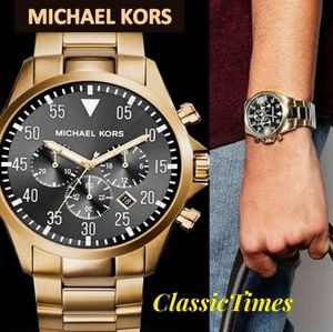 **NEW** MICHAEL KORS GAGE MK8361 CHRONOGRAPH GOLD